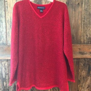 Mountain Lake, L, Red Oversized Sweater